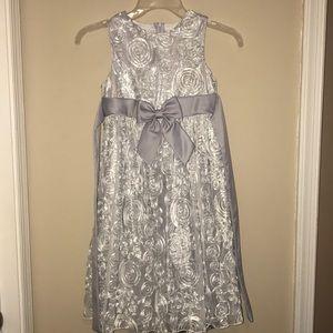 Gray/silver Little Girls Holiday Dress